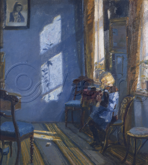 Solskinn i den blå stue / sunshine in the blue livingroom, 1891 ...